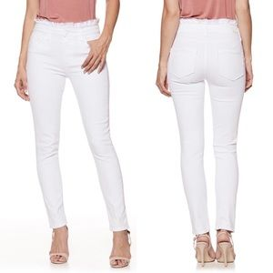 Paige Jeans 25 Hoxton Ankle Ruffle Skinny NWT